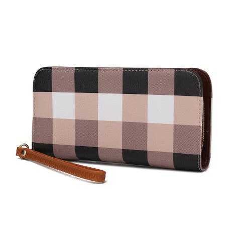 MKF Collection Solene Plaid Wristlet Wallet by Mia K.