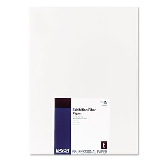 Epson Professional Media Exhibition Fiber Paper (13x19 Inches, 25 Sheets) (S045037)