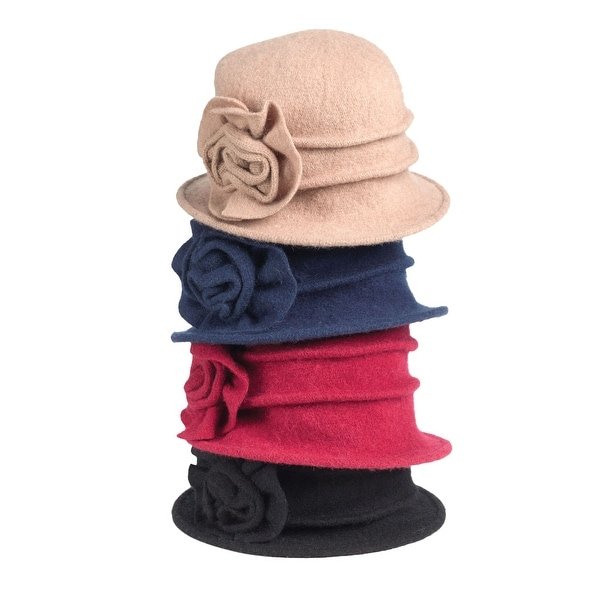 23e3323583e Shop Women s Wool Big Blossom Hat - One size - Free Shipping On Orders Over   45 - Overstock - 18285512