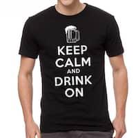 Humor Keep Calm Drink On Men's Black T-shirt