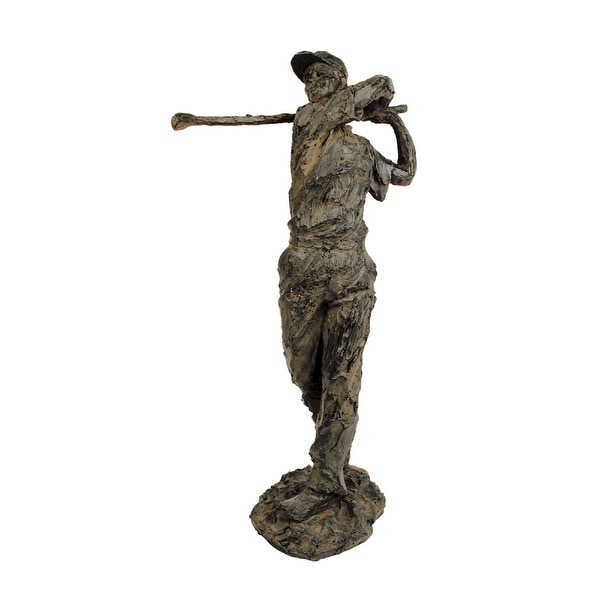 """18"""" Antique Rust and Bronze Old Tom Morris Statue - N/A"""