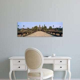 Easy Art Prints Panoramic Images's 'Path leading towards an old temple, Angkor Wat, Siem Reap, Cambodia' Canvas Art