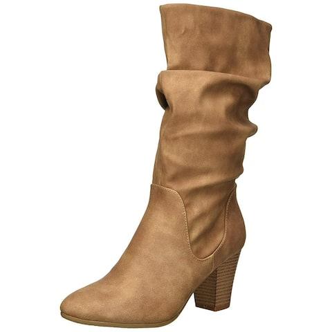 Xoxo Womens Stanley Closed Toe Mid-Calf Fashion Boots - 10