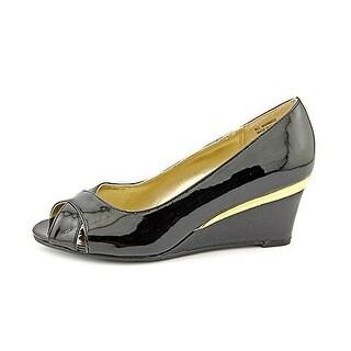 Karen Scott Friscco Peep Toe Synthetic Wedge Heel