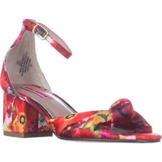 Betsey Johnson Ivee Ankle Strap Sandals, Floral