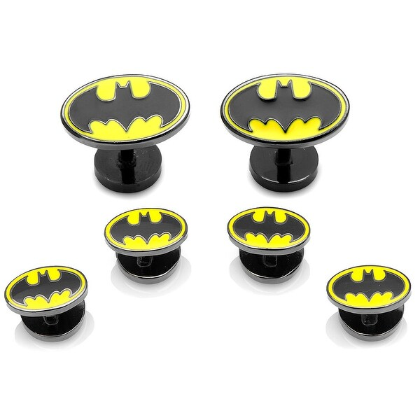 Enamel Batman Tuxedo Stud Set
