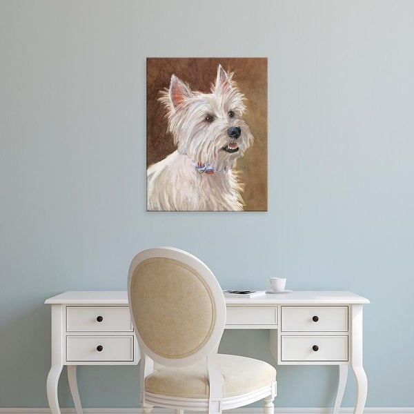 Easy Art Prints Edie Fagan's 'Mac West Highland Terrier' Premium Canvas Art