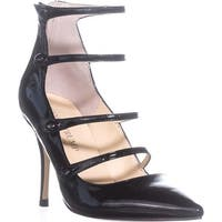 Ivanka Trump Dritz Strappy Pumps, Black Patent