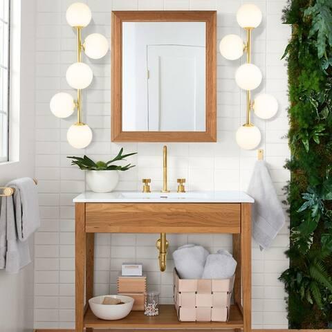 5 - Light Dimmable LED Gold Bathroom Vanity Light