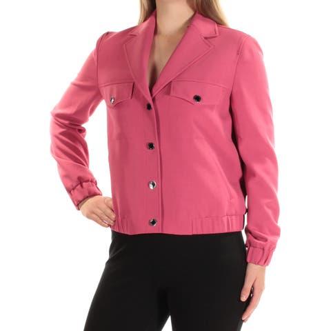 ANNE KLEIN Womens Pink Blazer Jacket Size: 16