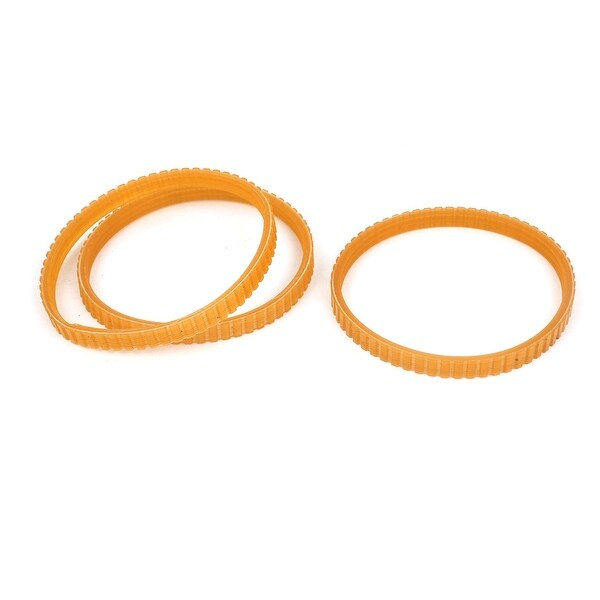 3 Pcs 220mm Axis Drive Single Side Engine Mechine Timing Pulley Belt Orange