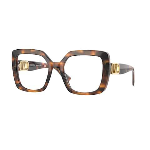 Valentino VA4065 51511W 53 Striped Havana Woman Square Sunglasses