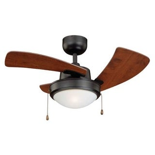 "Vaxcel Lighting WOLCOTT36 Wolcott 36"" 3 Blade LED Indoor Ceiling Fan with Light Kit"