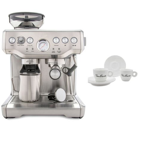 Breville BES870XL Barista Express Espresso Machine Includes 4 Espresso Cups