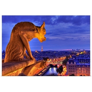 """Gargoyle on Notre Dame, Paris, France"" Poster Print"