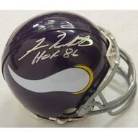 Fran Tarkenton Signed Vikings Riddell Mini Helmet wHOF 86