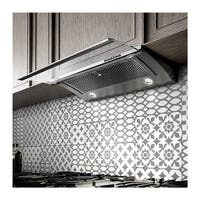 450 CFM 30 Inch Wide Under Cabinet Range Hood with Electronic Controls and Stainless Steel Mesh Filters from the Glide