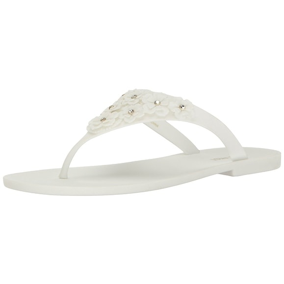 Nine West Womens Vlora Split Toe Casual T-Strap Sandals