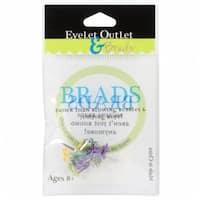 Eyelet Outlet  Eyelet Outlet Shape Brads 12/Pkg-Mini Flowers - Bright