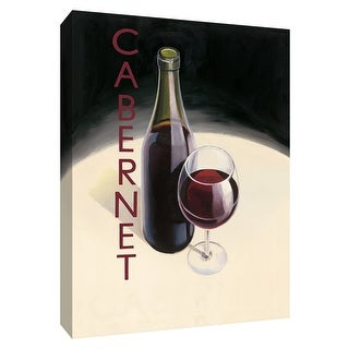 """PTM Images 9-154505  PTM Canvas Collection 10"""" x 8"""" - """"Cabernet"""" Giclee Wine Textual Art Print on Canvas"""