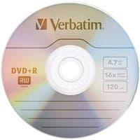 Verbatim 97956 4.7gb 16x Dvd plus rs, 10 Pk Bulk Box