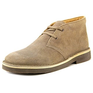 Clarks Originals Desertbtboyjnr Youth W Round Toe Suede Gray Chukka Boot