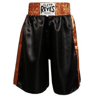 Cleto Reyes Satin Classic Boxing Trunks - Black/Gold