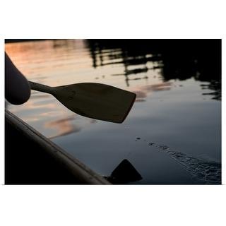 """""""Canoe oar"""" Poster Print"""