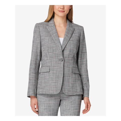 TAHARI Womens Gray Blazer Wear to Work Jacket Size 16