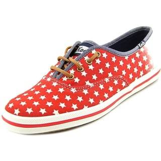 Keds CH Patriotic Star Red Women Round Toe Canvas Sneakers