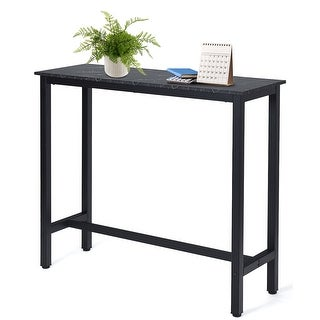 Link to 47'' Bar Table Industrial Pub Height Dining Table Similar Items in Dining Room & Bar Furniture