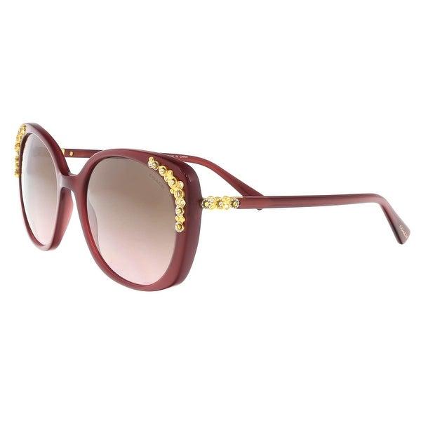 f145846ca9 Shop Coach HC8186B 539814 Milky Black Cherry Round Sunglasses - 56 ...