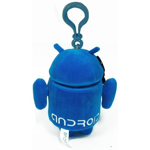"""Android 3.5"""" Plush Backpack Clip On: Blue - Multi"""
