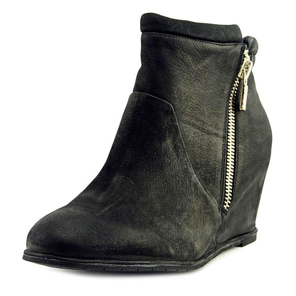 Kenneth Cole Reaction Vivia Women Round Toe Suede Black Ankle Boot