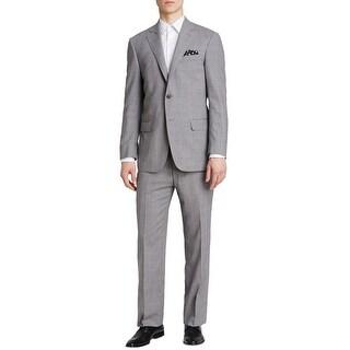 HART SCHAFFNER MARX New York Light Grey Plaid Suit 36 Short 36S Pants 29W