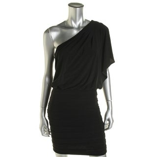 B. Darlin Womens Juniors Cocktail Dress Blouson One Shoulder
