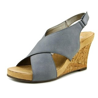 A2 By Aerosoles Cherry Plush   Open Toe Leather  Wedge Heel