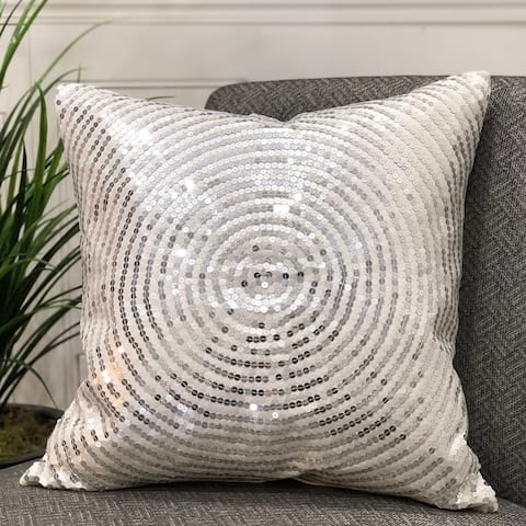 "SEPONI Pillow 20"" with BEADED Embroidery feather/down fill"