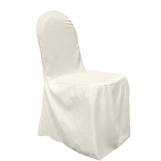 Prime Ivory Polyester Lamour Satin Banquet Chair Cover Overstock Com Shopping The Best Deals On Chair Slipcovers Alphanode Cool Chair Designs And Ideas Alphanodeonline