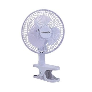 Homebasix F-0645 Personal Clip-On/Table Fan, White, 6