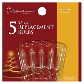 Celebrations 1265-2-71 Mini Replacement Bulbs, 3.5 Volt, Clear