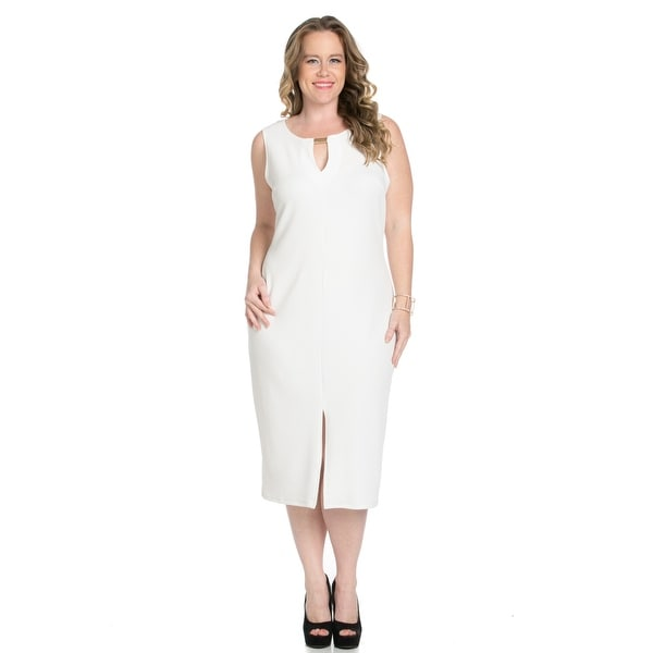 88c2607583710 Shop White Modest a Bit with Bare Shoulders Dress - On Sale - Free ...
