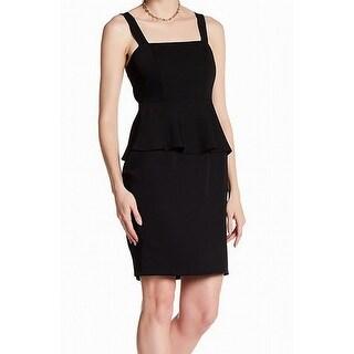 Cynthia Steffe Womens Peplum Solid Sheath Dress