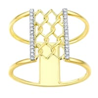Prism Jewel 0.80MM 0.07CT G-H/I1 Natural Diamond Light Weight Clover Wrap Ring - White G-H