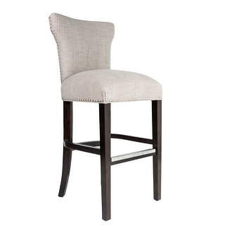 Link to Bella 30 inch Contemporary Beige Taupe Nailhead Barstool Similar Items in Dining Room & Bar Furniture