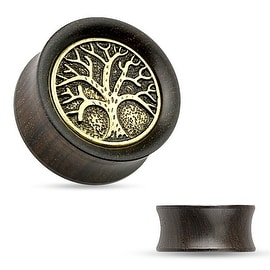 Organic Ebony Wood Saddle Tunnel with Tree of Life Top (Sold Individually)