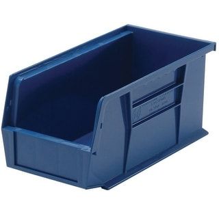 "Quantum QUS220BL Blue Polypropylene Storage Bin, 7-3/8"" x 4-1/8"" x 3"""