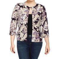 Jessica Howard Womens Jacket Matte Jersey Printed
