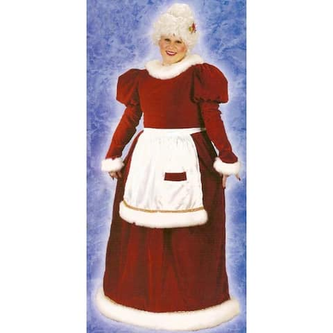 Red and White Mrs. Santa Claus Women Adult Christmas Costume - Plus Size - N/A