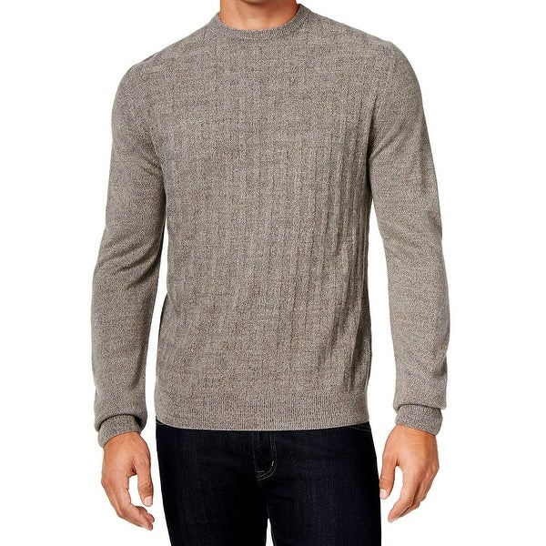 4ab39b048 Weatherproof NEW Gray Heather Mens Size 3XL Basketweave Crewneck Sweater